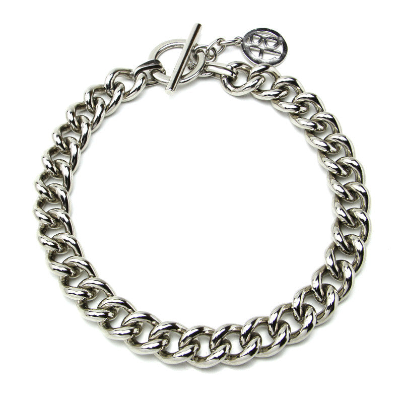 Classic Silver Chain Link Necklace - Ben-Amun
