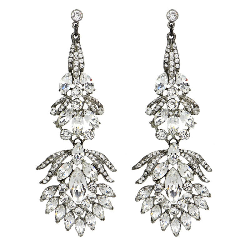 Crystal Peacock Post Earrings - Ben-Amun