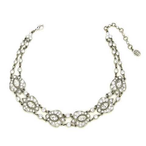 Crystal Deco Damask Necklace - Ben-Amun