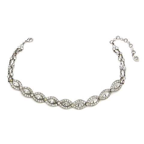 Crystal Deco Choker Necklace - Ben-Amun