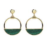 Mod Malachite Post Earrings - Ben-Amun