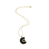 Mod Black Stone Necklace - Ben-Amun