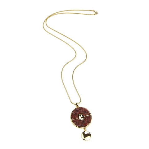 Mod Circle Pendant Necklace - Ben-Amun