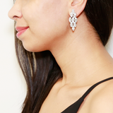 Marquise Crystal Clip Earrings