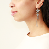 Rock Star Crystal Tassel Chain Fish Hook Earrings - Ben-Amun