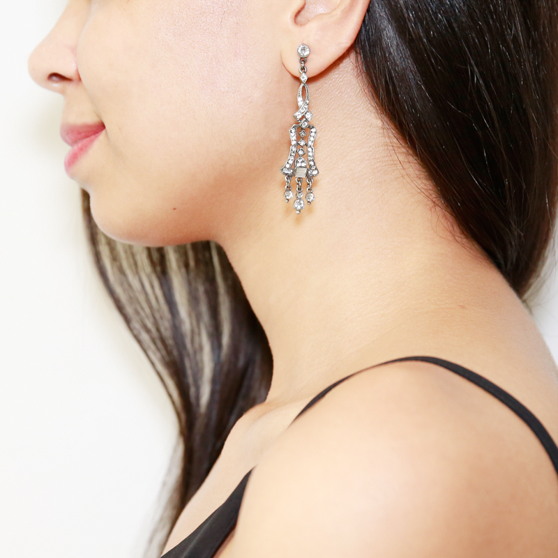 Belle Epoque Crystal Chandelier Post Earrings - Ben-Amun