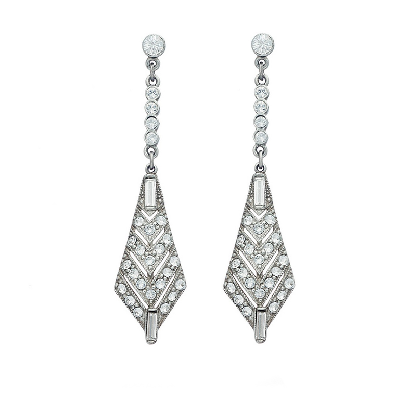 Belle Epoque Triangular Crystal Earrings - Ben-Amun