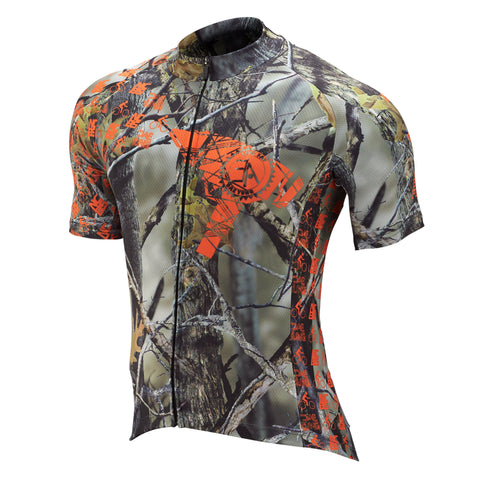 WOODLAND CAMO CYCLING JERSEY