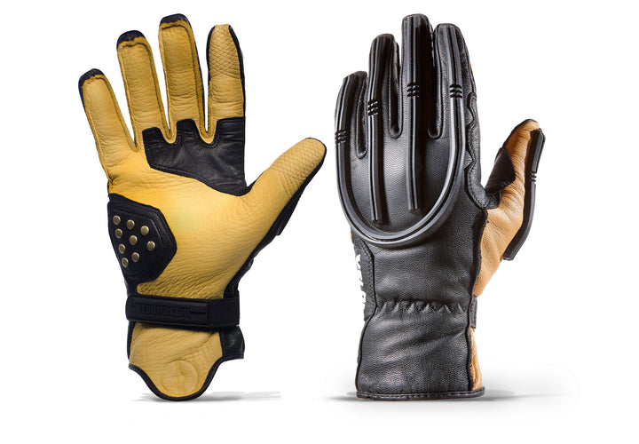 Velomacchi Speedway Gloves - TAN/BLACK
