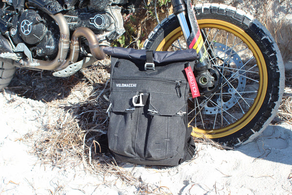 Velomacchi 28L Speedway Backpack in the sand