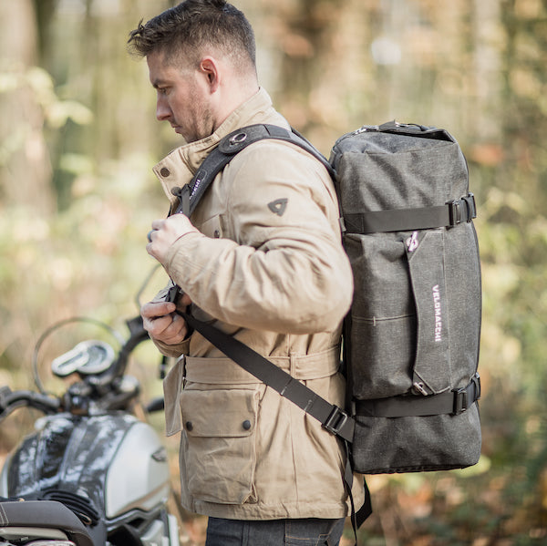 Ballistic nylon travel duffel backpack for on the go adventure.