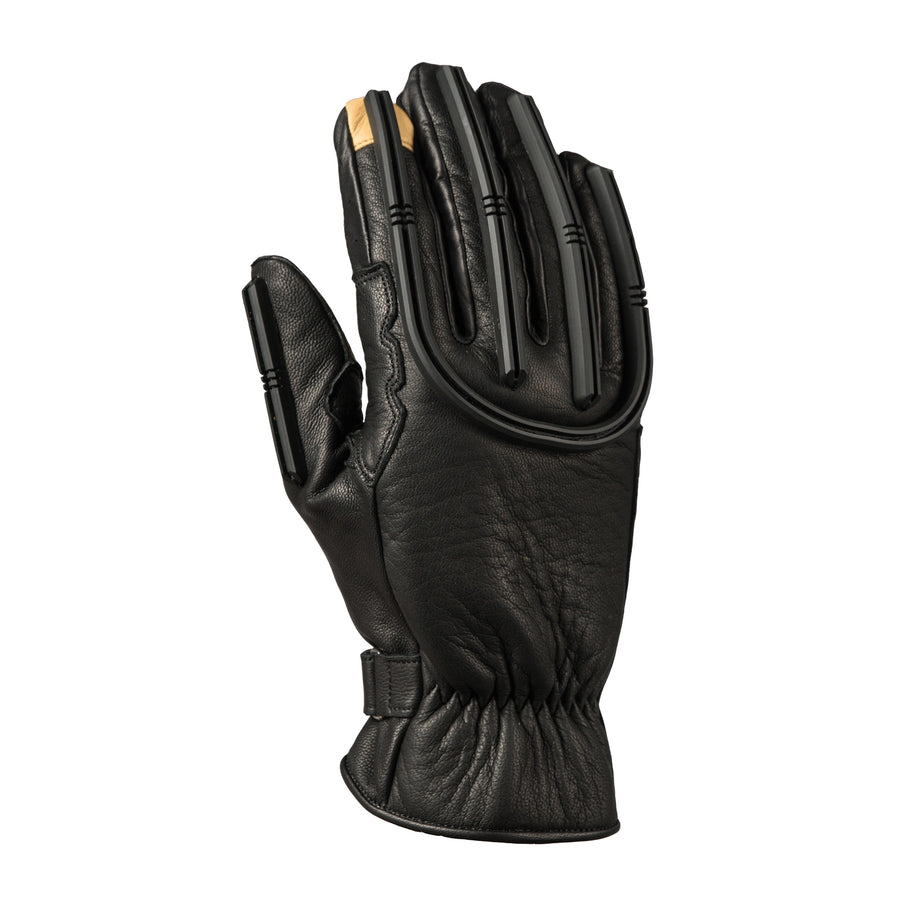 TPU on the goatskin provides abrasion resistance while commuting with these motorcycle gloves.