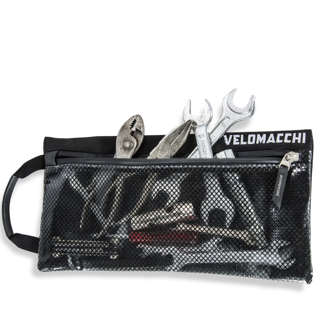 The large tool pouch will organize tools, medication, electronics, and fits in motorcycle backpacks and travel luggage.