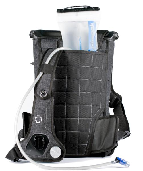 Hydration compartment of a medium-sized hydration backpack.