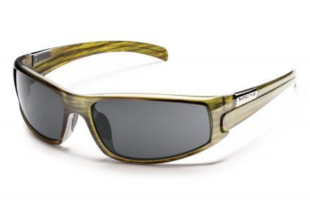 Swagger Green Stripe Frame / Solid Gray Lens