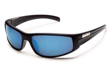 Swagger Black Frame / Solid Blue Mirror Lens