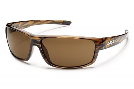 Voucher Brown Stripe Frame / Solid Brown Lens
