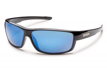 Voucher Black Frame / Solid Blue Mirror Lens