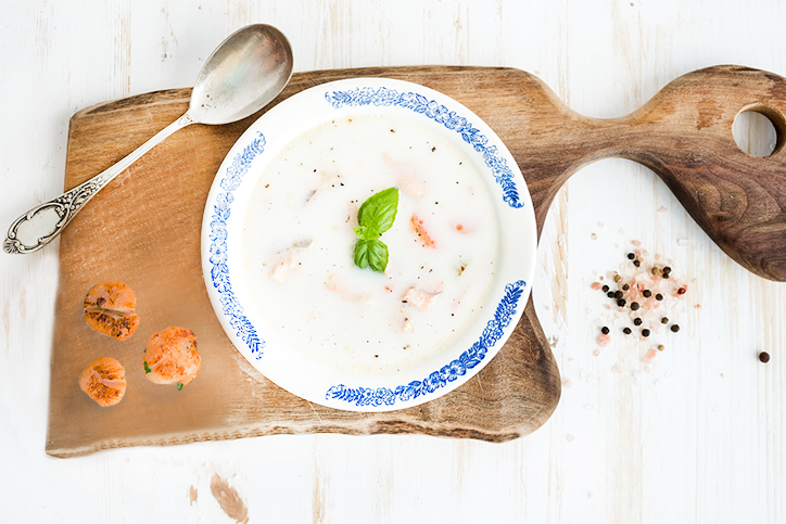 Coconut Scallop Soup