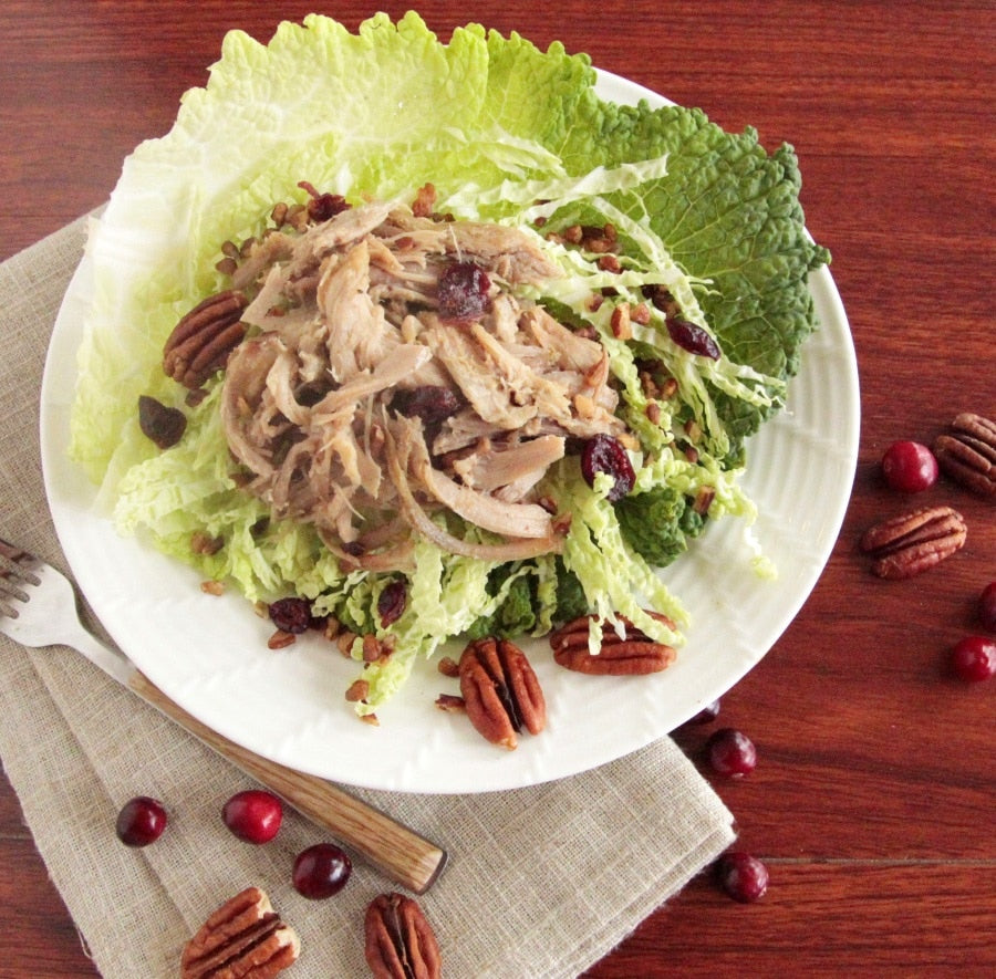 Instant Pot Pulled Pork with Cranberries and Pecans