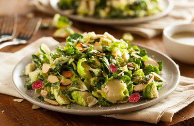 Brussel Sprouts with Cranberries and Almonds