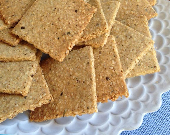 French Sesame Herb Crackers