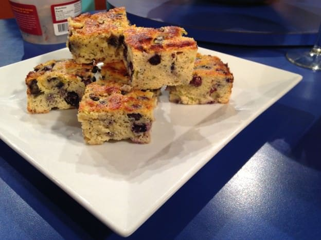 Lime-Blueberry Poppy Seed Coffee Cake