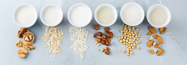 6 cups of healthy milk alternatives