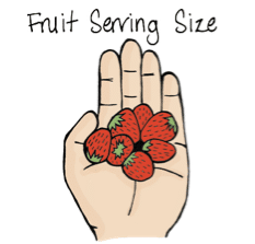 Fruit service size in palm of hand