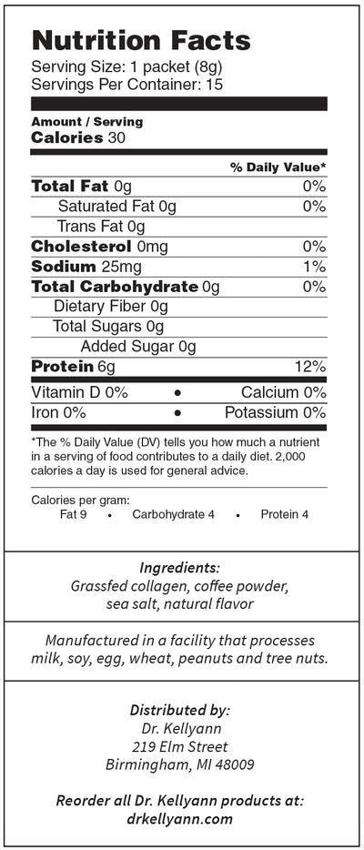 Collagen Coffee Nutrition Packet
