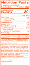 Collagen Cooler Nutrition Facts for Packet