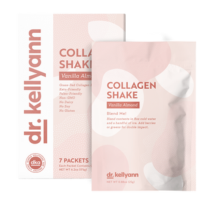 Collagen Shake Vanilla Almond Packet and Box