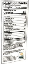 Beef Slim Bone Broth Frozen Nutritional Info