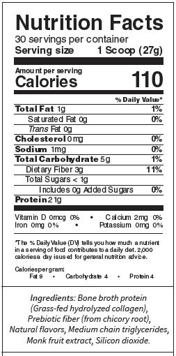 Bone Broth Protein Nutrition Facts