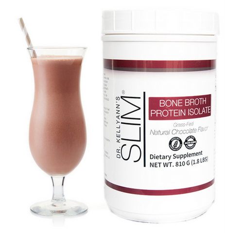 SLIM Bone Broth Protein Isolate, Chocolate