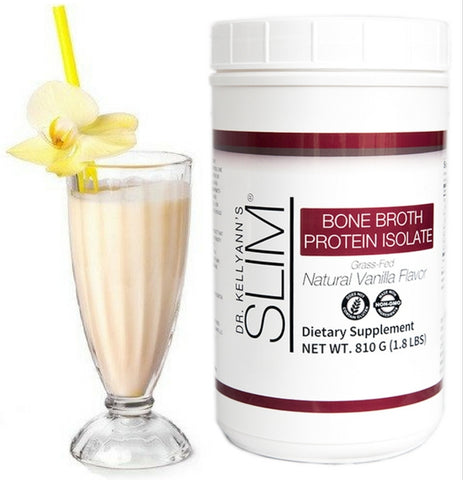 SLIM Bone Broth Protein Isolate, Vanilla
