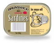 BRUNSWICK SARDINES IN SOYA OIL (106G)