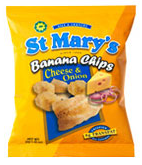 St. Mary's Banana Cheese and onion Chips 30g