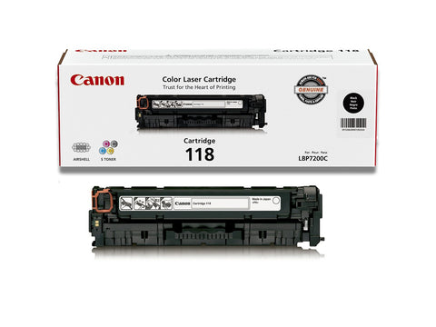 Canon Genuine Original 118 Black Toner Cartridge