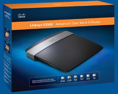 Linksys E2500 N600 4-port Dual-Band Wi-Fi Router