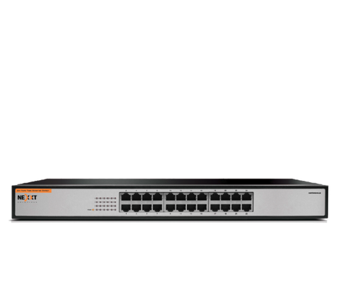Nexxt Solutions - Nexxt Rackmount Switch ASFRM244U2 24 Port 10-100 110-220V US