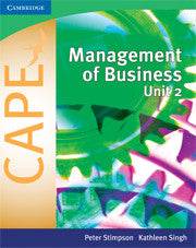 CAPE Managent of Business Unit 2