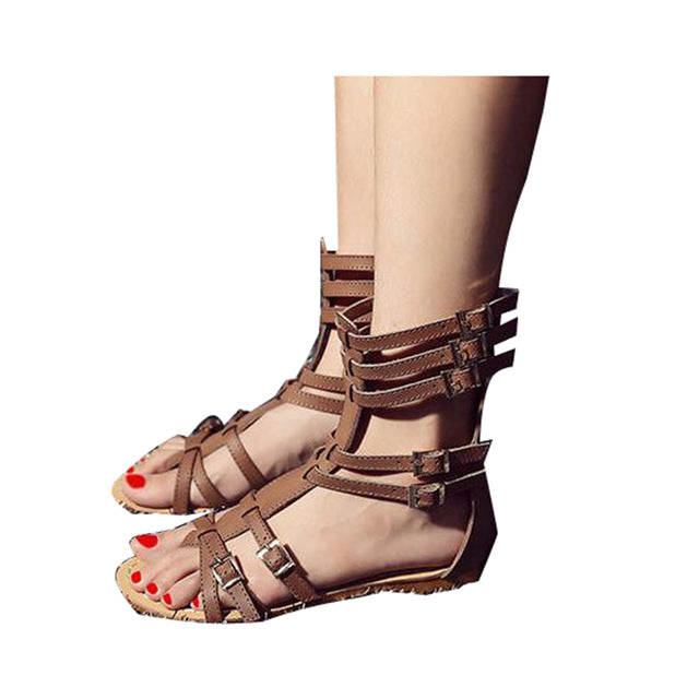 75c93c11ca7 ... HEE GRAND Brand Fashion New Summer Gladiator Sandals Woman Flat With Shoes  Buckle Frework Boots Plus