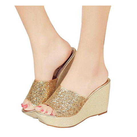 64254f7b518d38 HEE GRAND Women Slippers Bling Bling Glitter Platform Wedge Slides 201 –  DWINET Shopper Limited