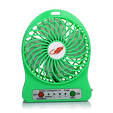 USB Mini Fan Portable Electric Fans LED Portable Rechargeable Desktop Fan Cooling air conditioner portable fan has a battery