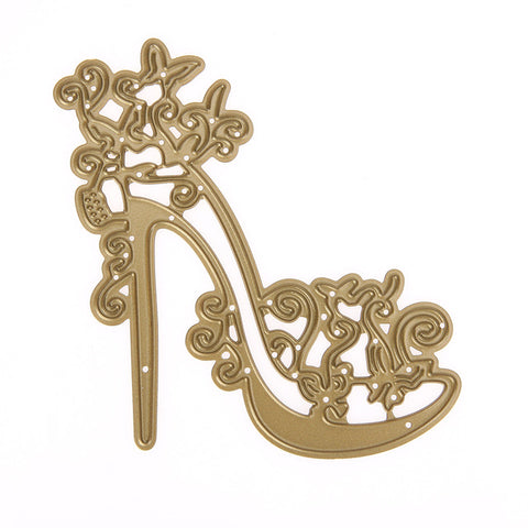 Metal Cutting Dies High-heeled Shoes Stencil for Scrapbooking Album Decor Wedding Decoration Craft Embossing Card Cutter
