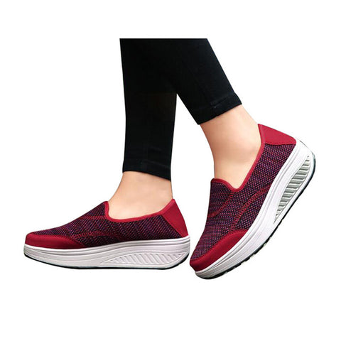 HEE GRAND Women Creppers  Loafers Shoes Casual Breathable Mesh Shoe for Woman Platform Swing Flats XWD5964