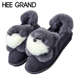 HEE GRAND Doll Decoration Women Sweet Home Slip-on Women Winter Fashion Shoes with Platform Woman 's Footwear  XWX6370