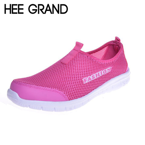 HEE GRAND Brand 2017 New Summer Casual Shoes Woman Sneakers Network Soft Breathable Shoes Drop Shipping XMR199