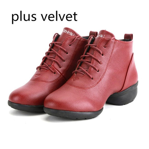 Female Waterproof Breathable Soft Bottom Lace Up Dancing Shoes Medium Upper Durable Modern Square Dancing Sneakers Women Shoes